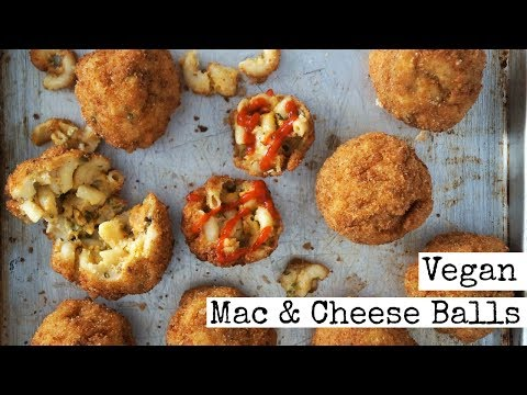 Spicy Vegan Mac and Cheese Balls