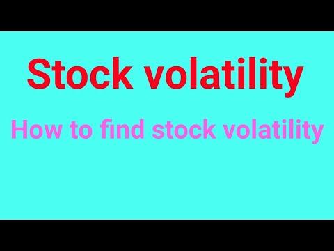 stock volatility calculation
