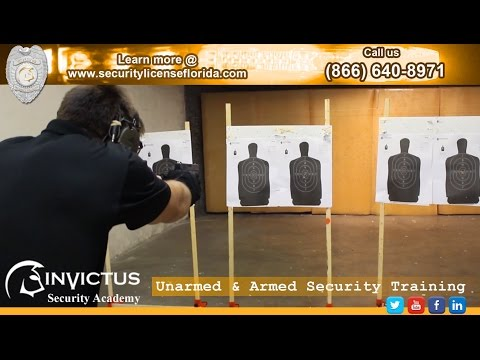 Florida Security License • Armed & Unarmed Security Training in Florida