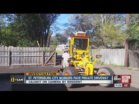 City employees caught doing private paving work