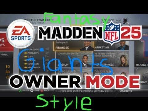 Madden 25 Connected Franchise|Owner Mode| Episode 1| Fantasy Team with....