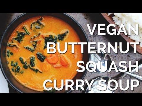 Vegan Butternut Squash Curry Soup | Two Market Girls