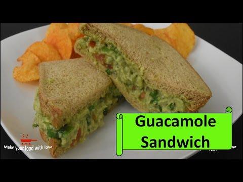 Guacamole sandwich recipe | how to make Guacamole sandwich