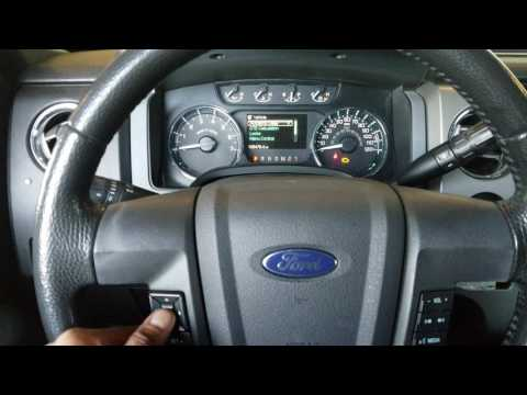 2011 ford F150 oil change reset