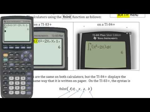 Ca12 5.2c Evaluating Integrals Using a TI83/84+ Graphing Calculator