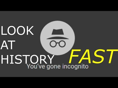 HOW TO LOOK AT YOUR HISTORY ON INCOGNITO MODE FAST!!