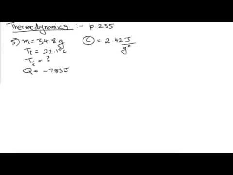 Thermodynamics- Finding Final Temperature