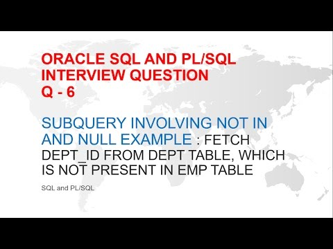 ORACLE SQL AND PL/SQL INTERVIEW QUESTION : SUBQUERY WITH NULL / NOT IN / NOT EXISTS OR OUTER JOIN