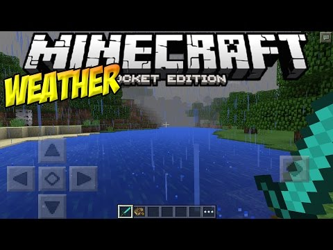 WEATHER in MCPE!! - RAIN, SNOW & LIGHTNING!! - Minecraft PE (Pocket Edition)