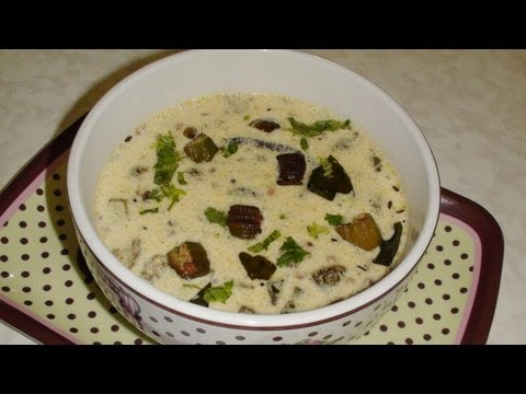 Bhindi Kadhi Recipe Video - Okra Soup - Gujarati Cuisine
