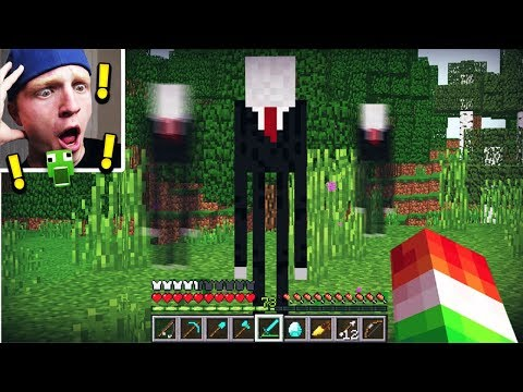 I FOUND SLENDERMAN IN MINECRAFT! *NOT CLICKBAIT!*