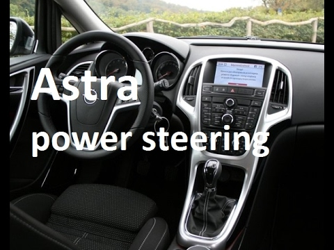 Power steering on Opel Vauxhall Astra J, 1.6, electric or hydraulic