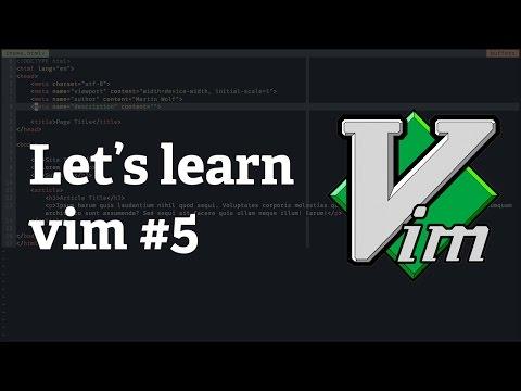 Screencast #23: Let's learn vim #5 - Copy & Paste
