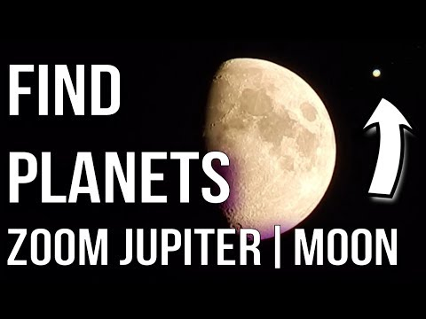 How to find planet without telescope | Zooming Jupiter, Moons With Nikon Camera NO DSLR Easy!