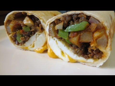 Big Country Breakfast Burrito - Breakfast Burrito Recipe