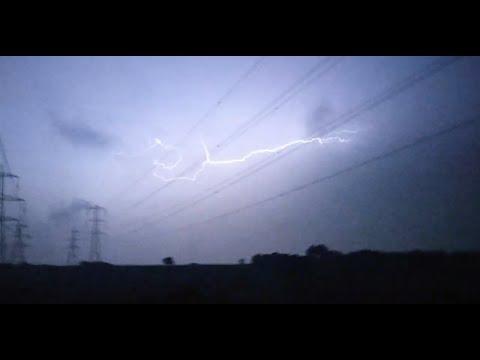 Massive Lightning Storm Hits The UK