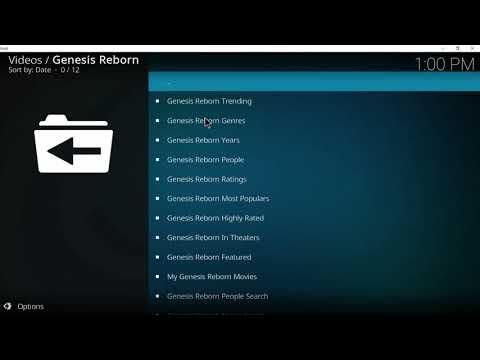 KODI How to Install Genesis Reborn And FlixNet 2018 Working 100%
