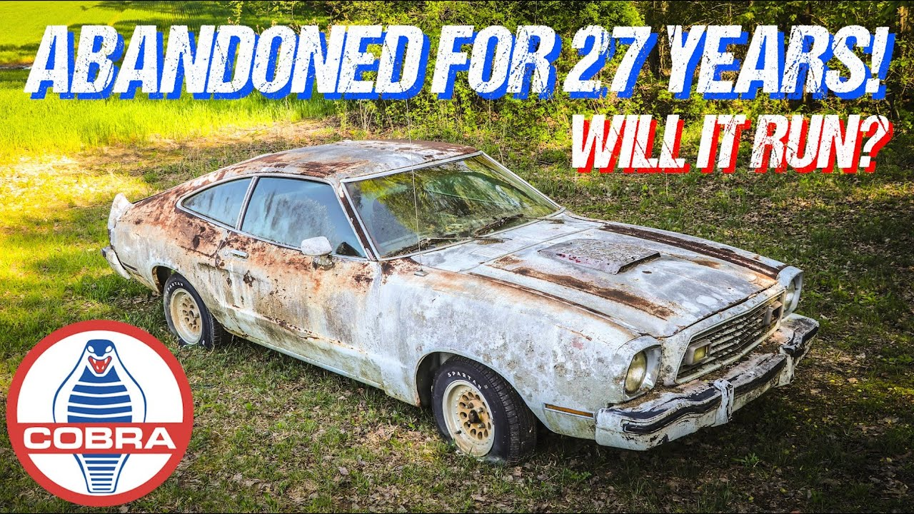 ABANDONED Mustang Cobra Rescued After 27 Years - WILL IT RUN?