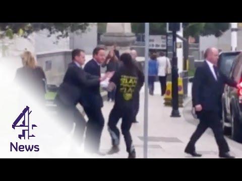The man who ran into David Cameron   Channel 4 News