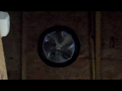 Custom solar attic fan system