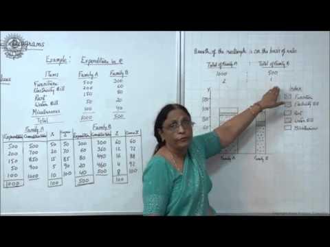 Percentage Bar Diagram and Pie Diagram Class XI Economics by Manju goyal