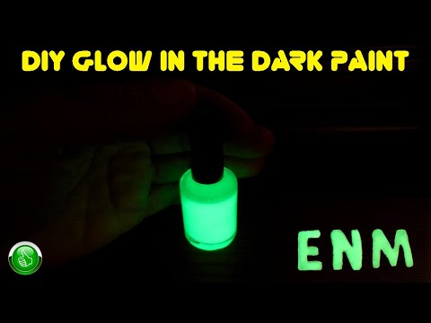 DIY Glow In The Dark Paint(High Luminescence)