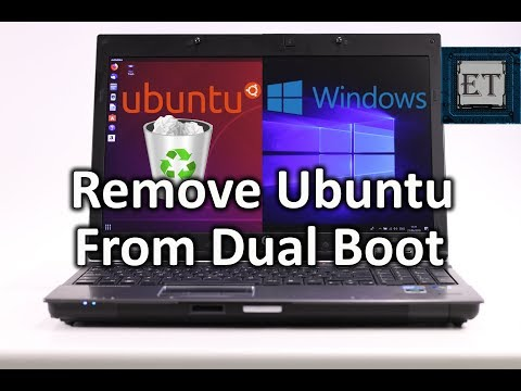 How to Remove Linux (Ubuntu) From Dual Boot in Windows 10