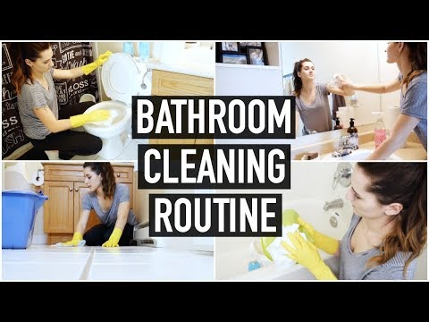 CLEAN WITH ME! | HOW I CLEAN MY BATHROOM 2018