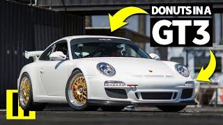 Glorious Sounding Porsche 911 GT3 Rips Donuts in the Burnyard