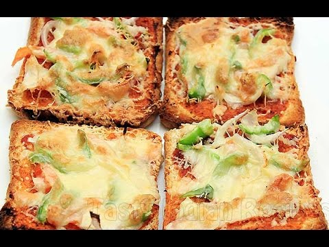 Bread Pizza Recipe | Homemade Chicken Tikka Bread Pizza