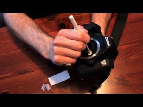 How to clean your camera sensor with a gel stick
