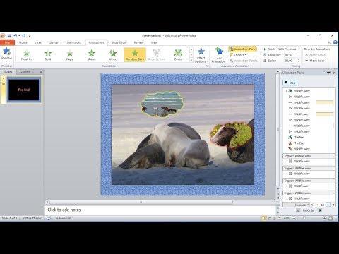 Tutorial powerpoint 2010 |Cara membuat Custom Animation Video yang di potong (Crop) di powerpoint