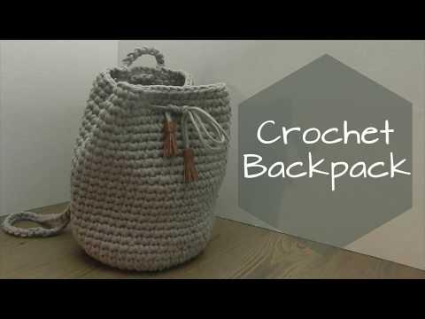 CROCHET DIY BACKPACK ⚫️ KIDS ⚫️