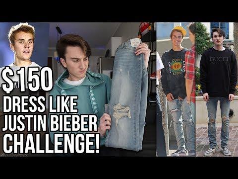 $150 DRESS LIKE JUSTIN BIEBER CHALLENGE!