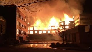MONSTROUS FIRE DESTROYS APARTMENT BUILDING IN DOWNTOWN RALEIGH