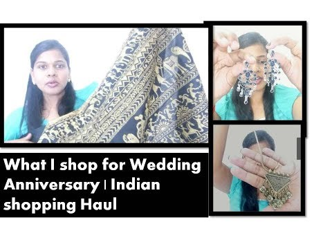 What I shopped for my wedding Anniversary ???Indian shopping