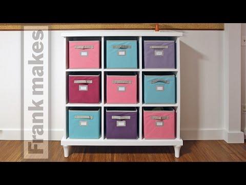 Making a Cubby Shelf