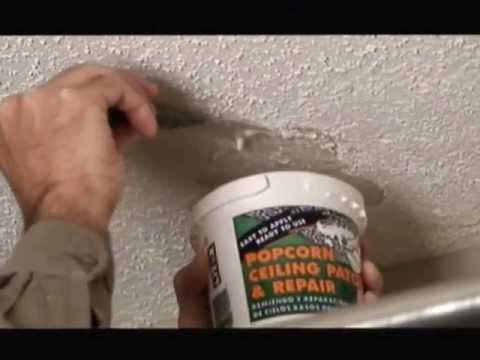 Popcorn Ceiling Patch Repair Video