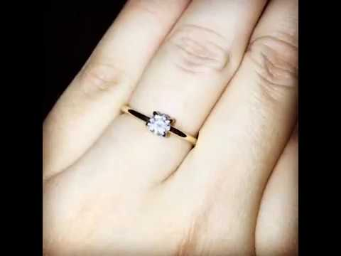 Small but absolutely stunning diamond ring. So much sparkle! Shine bright like a diamond