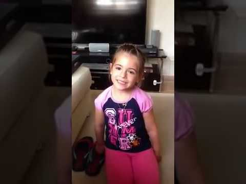 Two year old girl arguing with dad about boyfriend.