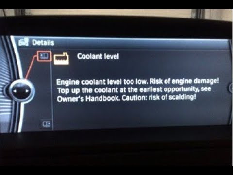 How To Add Anti- Freeze / Low Coolant Level Warning / BMW