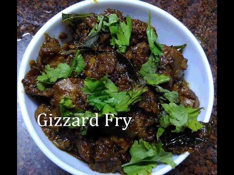 Gizarrd fry   Chicken Gizzard Fry Recipe   Southern Style Gizzard Fry   Kalleeral Varuval Recipe