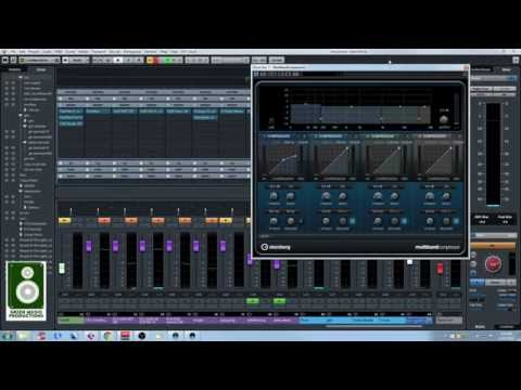How to get tight drums with punchy low end with a multiband compressor - Cubase 8.5
