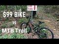 $99 Walmart Mountain Bike can't handle MTB trail - Hyper Shocker 26 Dual Suspension