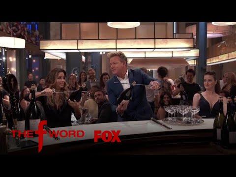 Eva Longoria Pops Open Champagne With A Sword   Season 1 Ep. 11   THE F WORD