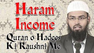 Haram Income Kamai Quran o Hadees Ki Roushni Me By Adv  Faiz Syed