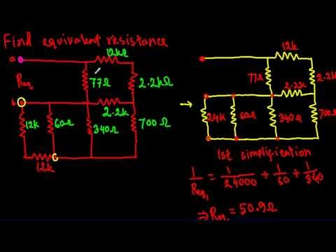 Equivalent Resistance of complex series parallel circuit 3 (Hard)