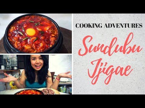 SUNDUBU JJIGAE 순두부 찌개 (Kimchi Soft Tofu Stew) │Cooking Adventures Ep. 3 #antheacooks