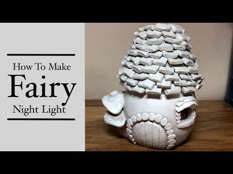 DIY Polymer Clay Fairy House Lantern/Candle Night Light House Tutorial Craft Idea