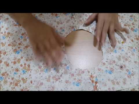 How to use and make an easy basic neckline with a portable sewing machine with pedal video